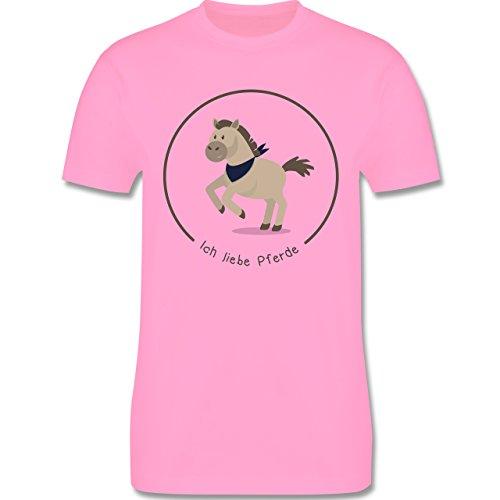 Pferde - Ich liebe Pferde - Herren Premium T-Shirt Rosa