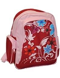 Preisvergleich für Rucksack Blumen Kinder - Kinderrucksack mit 4 Fächern Mädchen Blume türkis blau