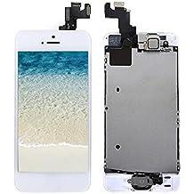 LCD Pantalla Táctil Reemplazo Completo de Pantalla con Botón de Inicio y Cámara de Alta Calidad Nuevo (Blanco-Iphone 5 SE)