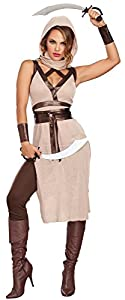 DreamGirl-10254desierto Warrior disfraz (tamaño grande)