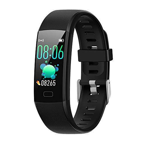 FIT2020 PRO Smart Band Fitness Tracker| Blood Oxygen| Blood Pressure| Heart Rate | Waterproof| Step,Distance,Calorie, Sleep Monitoring,Stopwatch | Color Screen displays|Multi Sports Mode (BLACKFIT20)