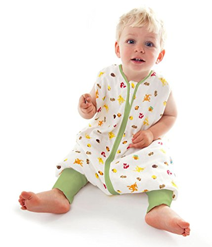 Preisvergleich Produktbild Schlummersack Baby Sommerschlafsack mit Füssen 1.0 Tog - Waldtiere - 18-24 Monate/90 cm
