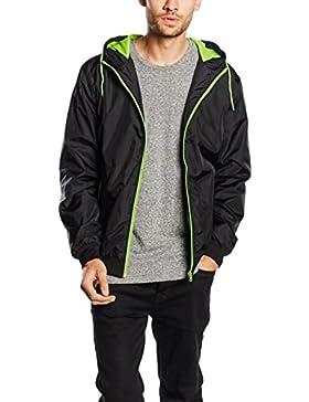 Urban Classics Contrast Windrunner Jacke black-green- 3XL