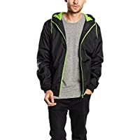 Urban Classics Contrast Windrunner Jacke black-green- 3XL