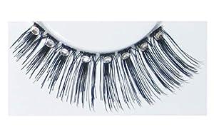 Eulenspiegel 000861 - pestañas artificiales - Negro incluido con grandes diamantes de imitación. - 2 x 1 piezas