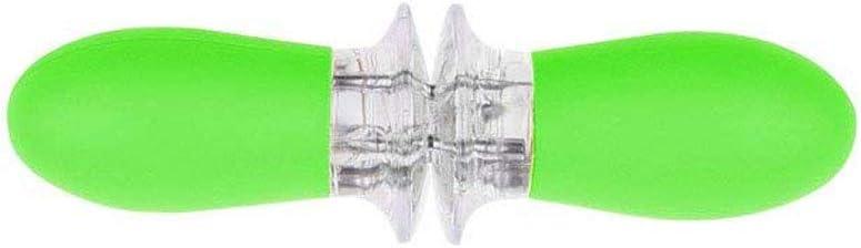 Edelstahl Mais Maiskolben Halter Mais Gabeln mit Silikon Griff Mais Halter Spieße Twin Prong BBQ Gabel für Zuckermais (grün)