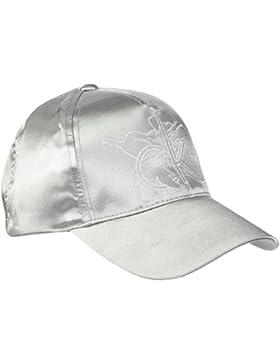 Calvin Klein Damen Baseball Cap CK SATIN K60K602677, Gr. One Size (Herstellergröße: OS), Silber (SILVER 067)