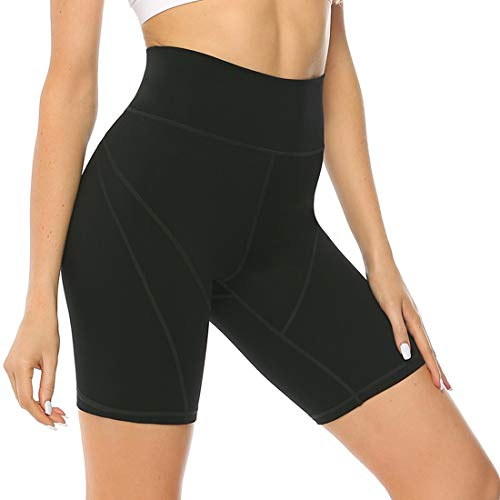 Persit Sporthose Kurz Damen Leggings - Sport Leggins Blickdicht Yogahose Yoga Leggings Laufhose Schwarz-XL