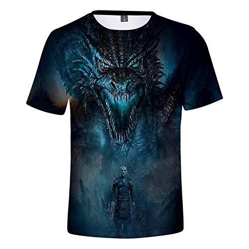 s T-Shirt Herren/Damen 3D-bedrucktes Kurzarm-T-Shirt Season Streetwear Unisex Tops Tee,M ()