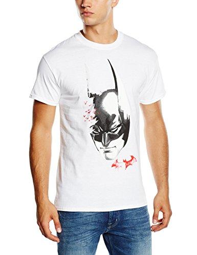 DC Universe Herren Top Batman Arkham Knight Face Bats Weiß - Weiß