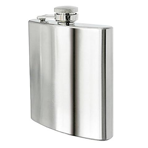 Kihappy Premium Stainless Steel Hip Flask Pocket Flagon, 8 oz
