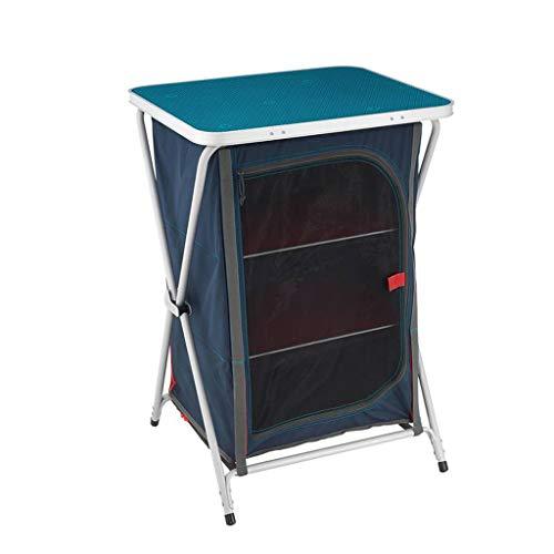 Table Pliante portative Table de Cour de Camping en Plein air Table de Rangement Pratique de Cuisine Table Pliante Armoire Simple et fiable