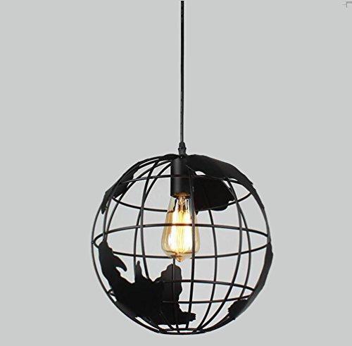 Sanlise - Luz de Techo Colgante Globo Terráqueo Lámpara Araña Modern para Habitaciones de Trabajo Comedor Salón Piso Llano Local Altura Regulable con la Bombilla DuraSec 30 cm