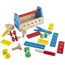 Melissa & Doug Wooden Take Along Tool Kit (24 Pieces), Multi Color