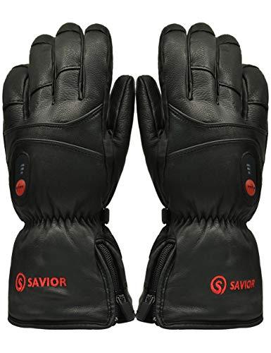 Savior guanti riscaldati per uomo e donna, batteria ricaricabile agli ioni di litio, guanti riscacaldati per ciclismo motociclismo ed escursionismo alpinismo, funzionano fino a 6 ore (xxxl)