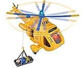 Simba 109251002 - Feuerwehrmann Sam Hubschrauber Wallaby II mit Tom Thomas Figur/ mit Licht und drehbarem Rotor/ mit Seilwinde/ 6 Sitzplätze/ mit Originalsound/ 34cm Test