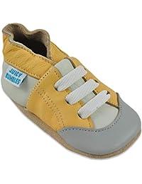 Zapatos de Bebé – Zapatillas de Cuero Niño Niña – Patucos de Piel con Elástico para