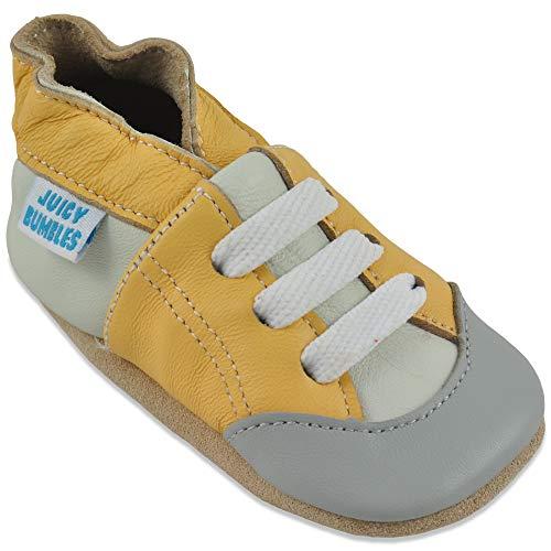 Juicy Bumbles Lauflernschuhe - Krabbelschuhe - Babyhausschuhe - Gelbe Turnschuhe 18-24 Monate (Größe 24/25)