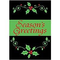 Seasons Greetings–ricamato accenti–30,5x 45,7cm giardino dimensioni decorative bandiera
