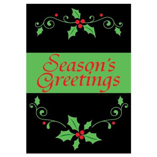 Seasons Greetings-ricamato accenti-30,5x 45,7cm giardino dimensioni decorative bandiera