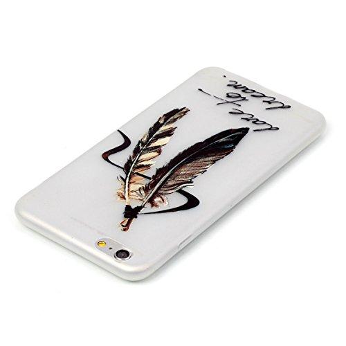 """iPhone 6s Plus Luminous Coque, MOONCASE iPhone 6 Plus Etui Noctilucent Back Coque Thin Fit TPU Housse Cover Case pour iPhone 6 Plus(2014) / 6s Plus(2015) 5.5"""" - YT09 Série Moonlight - YT01"""
