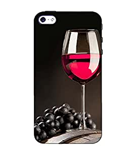 Fuson Designer Back Case Cover for Apple iPhone 5S (A glass of wine theme)