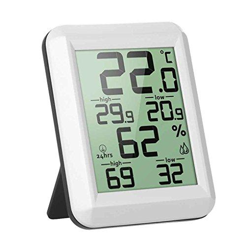BoburyL Digitale LCD-Thermometer-Hygrometer Elektronische Temperatur- und Feuchtigkeitsmessgerät MIN/MAX Aufzeichnungen Innenwetterstation