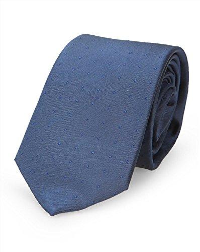 Calvin Klein - Krawatten - Herren - Blaue Krawatte mit verschwimmendem Punktmuster für herren - TU
