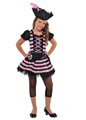 (Magic Box Int. Mädchen rosa und schwarz Schatz Piraten Kostüm Small (4-6 years))