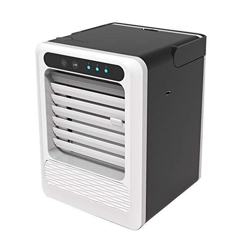 Fcostume Air Cooler Mini Luftkühler, USB Aufladen Tragbare Multifunktion Klimaanlage Lüfter Kühlschrank Kühler für Zuhause Office Zimmer (Schwarz)