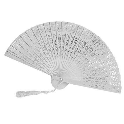 Vintage de bambú plegable de mano ventilador de flores fiesta de baile chino regalos de bolsillo boda...
