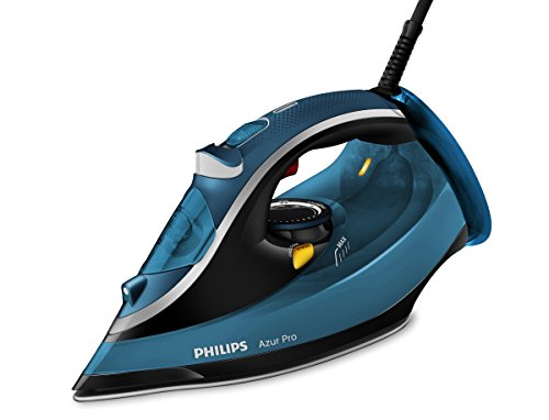 Philips Azur Pro GC4881/20 - Plancha de vapor, 2800 W, 50 g/min, golpe de vapor 210 g, color azul