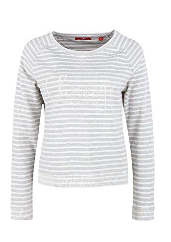 s.Oliver 14701412180, Chemisier Femme grau (grey melange stripes 94G4)