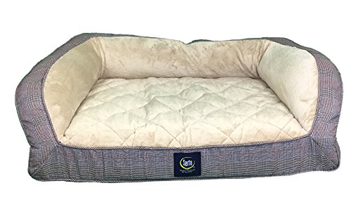 serta-orthopedic-quilted-couch-black-plaid