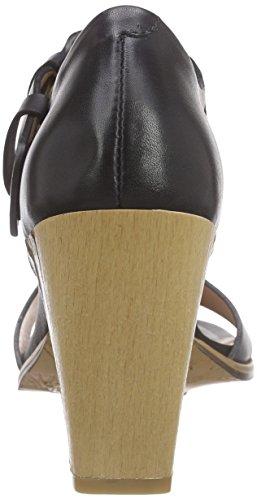 Neosens - Gloria, Scarpe col tacco con cinturino a T Donna Nero (Schwarz (EBONY))