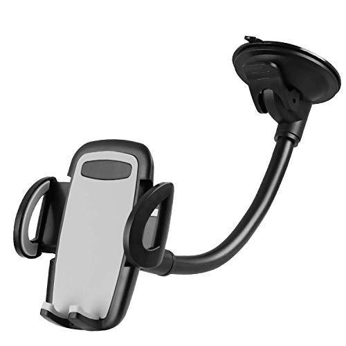 Handy-Halterung, Desktop-Smartphone-Ständer mit Saugnapf, Flexible Arme, passt auf Live Broadcasting, Facebook Video, für Handy (schwarz), Long arm ()