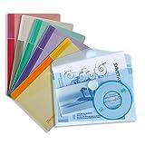 Tarifold Dokumententasche / Sammeltasche für A6 Blätter, farbig sortiert - 6 Stück: Blau, Lila, Grün, Gelb, Rosa & Transparent - 510289