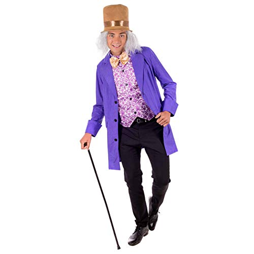 Willy Wonka Für Herren Kostüm - Fun Shack Herren Costume Kostüm, Mens Willy Wonka Suit, L