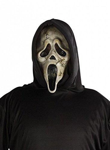 Ghost Face Scream Kostüm mit Maske für Erwachsene Gr. L/XL Zombie Geist Halloween Horror Farbe:Braun (Blutiges Scream Kostüm)
