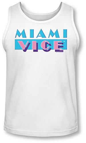 Miami Vice - - Herren Logo Tank-Top, Large, White -