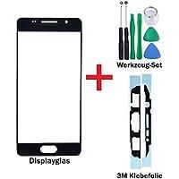 """iTech Germany PREMIUM Vetro display kit di sostituzione per Samsung Galaxy A5 (2016) Nero - Touchscreen oleorepellente frontale per SM-A510F + """"3M"""" Adesivo pretagliato e Set di strumenti di 7 pezzi"""