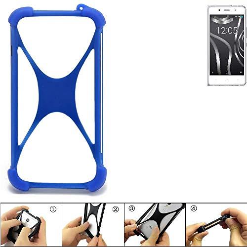 K-S-Trade Handyhülle für BQ Readers Aquaris X5 Plus Silikon Schutz Hülle Cover Case Bumper Silikoncase TPU Softcase Schutzhülle Smartphone Stoßschutz, blau (1x)