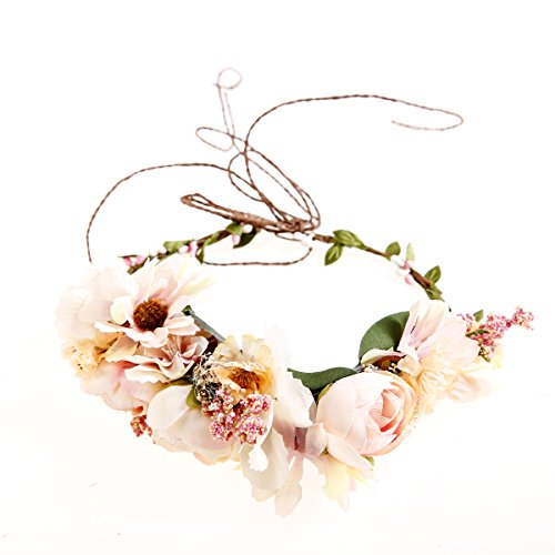 Bridal flower crown Bridal floral crown Floral wedding crown Wedding flower headpiece Wedding flower crown Boho wedding Ever Fairy®