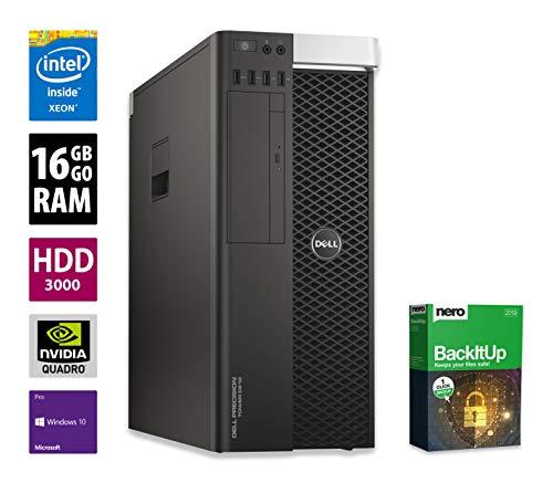 Dell Precision T5810 Workstation | Intel Xeon E5-1607 v3 @ 3,1 GHz | 16GB DDR4 RAM | 3000GB HDD | DVD-Brenner | Nvidia Quadro 2000 | Windows 10 Pro (Generalüberholt)