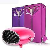 Secador de ropa estilo armario, ajuste de modo de posición de tres engranajes de potencia de alimentación de aluminio plegable para el interior 2000W con tres cubiertas de tela ( Color : Red host )