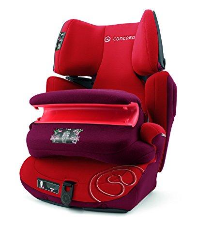 Concord Transformer Pro, Silla de coche grupo 1/2/3 Isofix, rojo (Tomato Red)