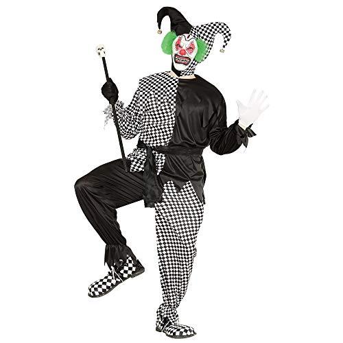 WIDMANN 01651 - Erwachsenenkostüm Evil Jester, Jacke, Hose, Gürtel und Hut, Größe (Psycho Circus Kostüm)