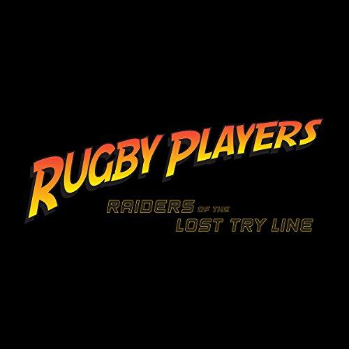 Indiana Jones Rugby Raiders Of The Lost Try Line Men's Hooded Sweatshirt Black