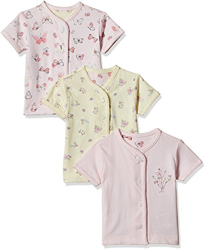 Mothercare Baby Girls' Vest (Pack of 3) (H6945-1-multicoloured_9-12 M)