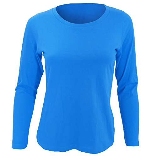 SOLS Womens/Ladies Majestic Long Sleeve T-Shirt (S) (Aqua)  available at amazon for Rs.1211